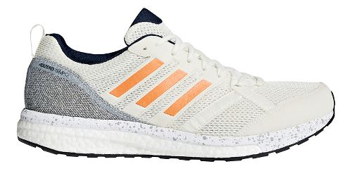 Mens adidas adizero Tempo 9 Running Shoe - Off White/Orange 11