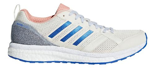 Womens adidas adizero Tempo 9 Running Shoe - Off White/Orange 7.5