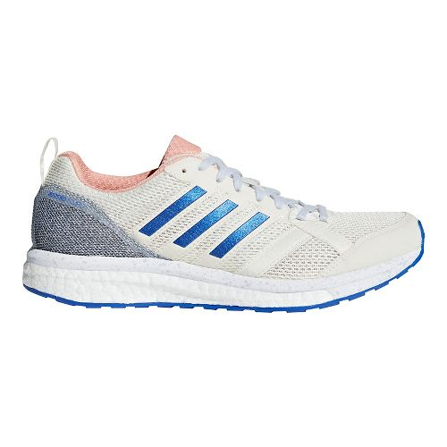 Womens adidas adizero Tempo 9 Running Shoe - Off White/Orange 9