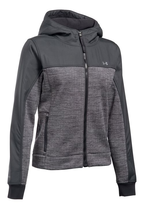 Womens Under Armour Herringbone Swacket Cold Weather Jackets - Black M