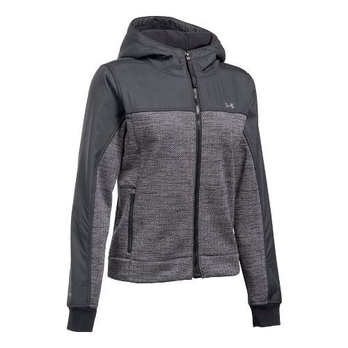 Womens Under Armour Herringbone Swacket Cold Weather Jackets - Black M
