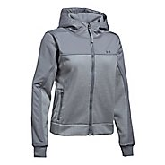 Womens Under Armour Herringbone Swacket Cold Weather Jackets - True Grey Heather M