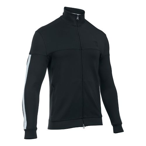 Mens Under Armour Sportstyle Track Casual Jackets - Black L