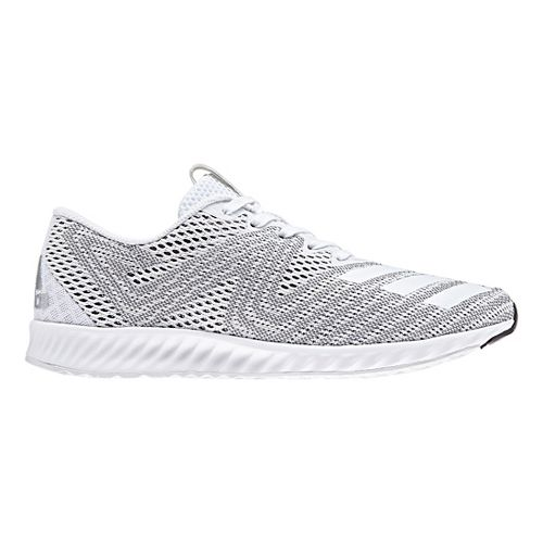 Womens adidas AeroBounce PR Running Shoe - White/Silver 10.5