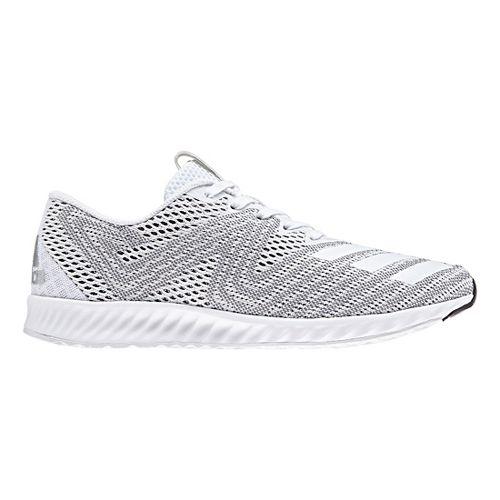 Womens adidas AeroBounce PR Running Shoe - White/Silver 6.5