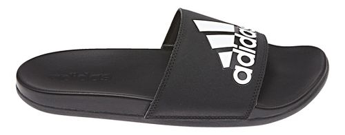 Mens adidas Adilette CF+ Logo Sandals Shoe - Black/White 9