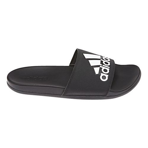 Mens adidas Adilette CF+ Logo Sandals Shoe - Black/White 9