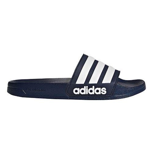 Men adidas Adilette CF Sandals Shoe - Navy/White 8