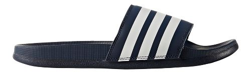 Womens adidas Adilette CF+ Stripes Sandals Shoe - Navy/White 7