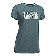 Womens Under Armour Threadborne Crew Neck-Mevo Short Sleeve Technical Tops