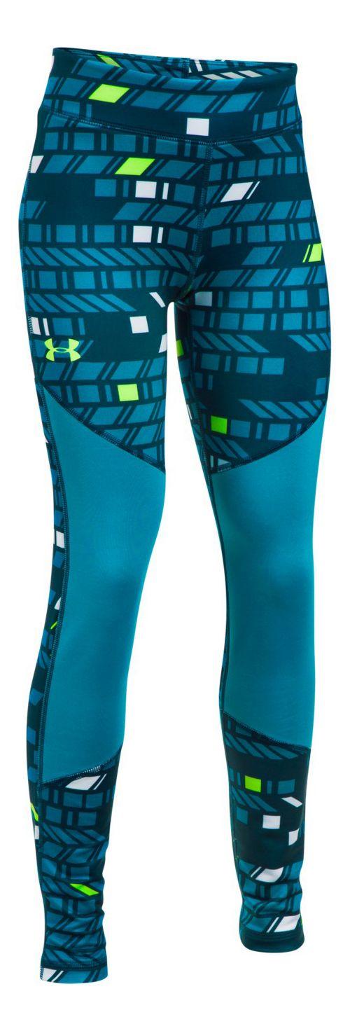 Under Armour Novelty ColdGear Legging  Tights - True Ink/Blue Shift YXL