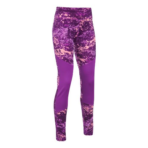 Under Armour Novelty ColdGear Legging  Tights - Purple Rave YXS