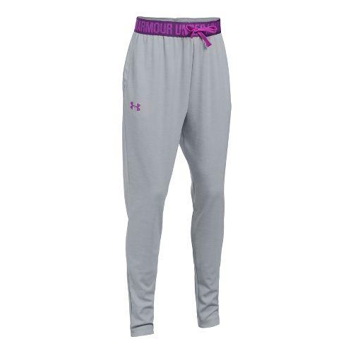 Under Armour Novelty Tech Jogger Pants - Grey/Indulge YL