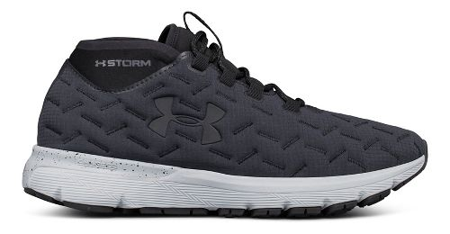Mens Under Armour Charged Reactor Run Running Shoe - Anthracite/Black 7.5