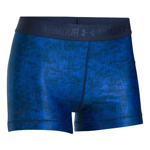 Womens Under Armour HeatGear Printed Shorty Compression & Fitted Shorts - Lapis Blue/Navy L