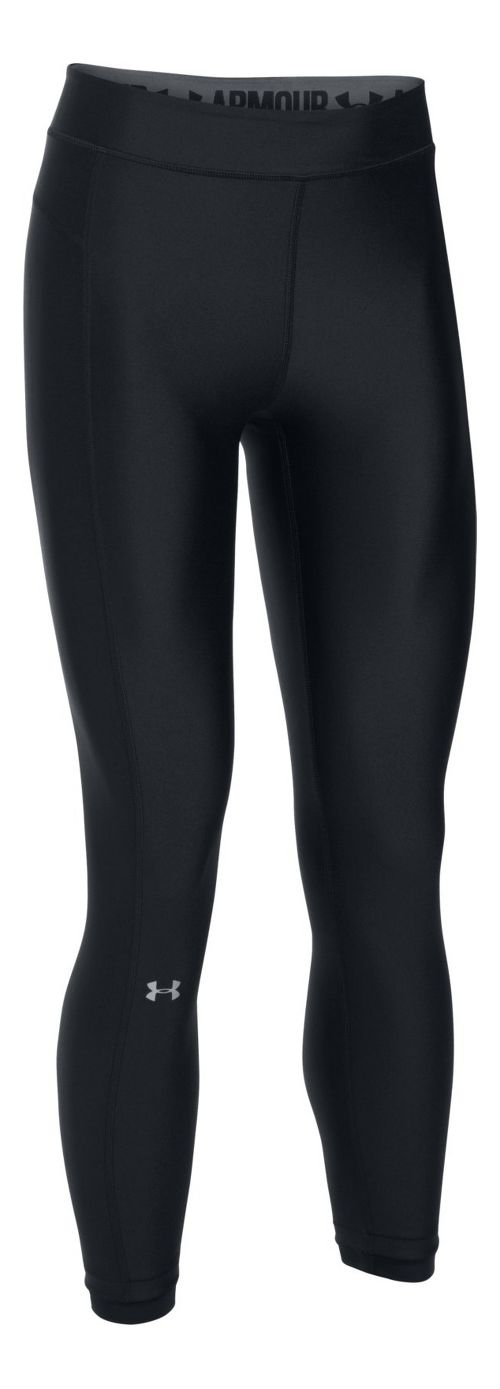 Womens Under Armour HeatGear Ankle Crop Tights - Black/Black L