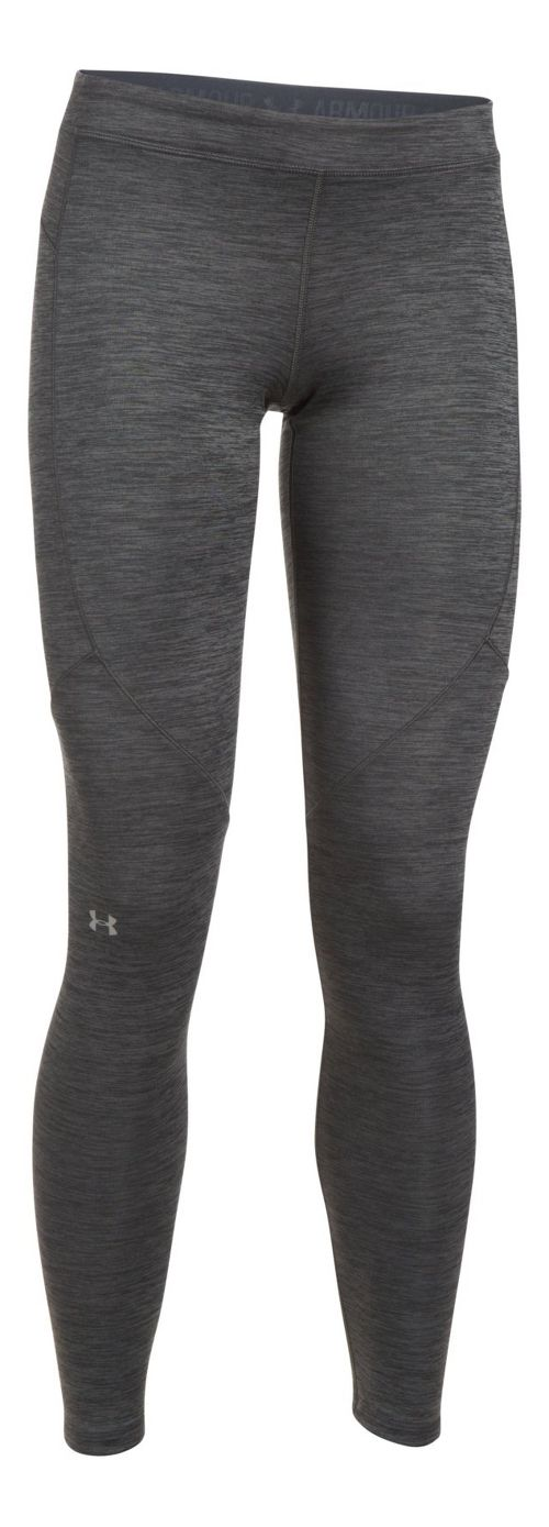 Womens Under Armour ColdGear Legging Compression Tights - Carbon Heather M
