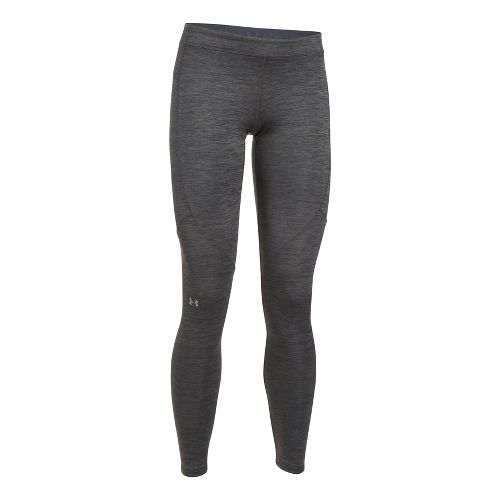 Womens Under Armour ColdGear Legging Compression Tights - Carbon Heather L