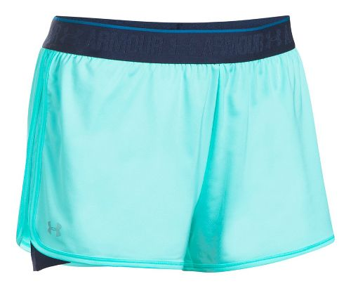 Womens Under Armour HeatGear 2-in-1 Shorts - Blue Infinity/Navy S