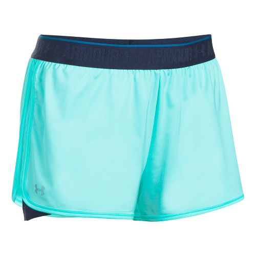 Womens Under Armour HeatGear 2-in-1 Shorts - Blue Infinity/Navy S