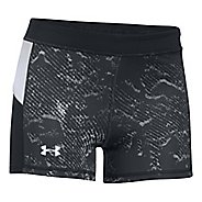 Womens Under Armour HeatGear Reversible Shorty Compression & Fitted Shorts - Black/Midnight Navy L