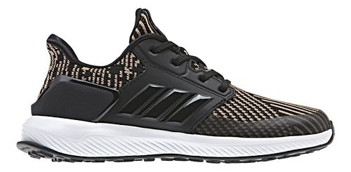 Kids adidas RapidaRun Knit Running Shoe - Black/Gold 12C