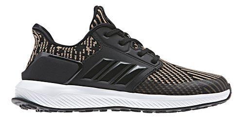Kids adidas RapidaRun Knit Running Shoe - Black/Gold 2Y