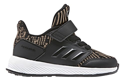 Kids adidas RapidaRun Knit Running Shoe - Black/Gold 10C