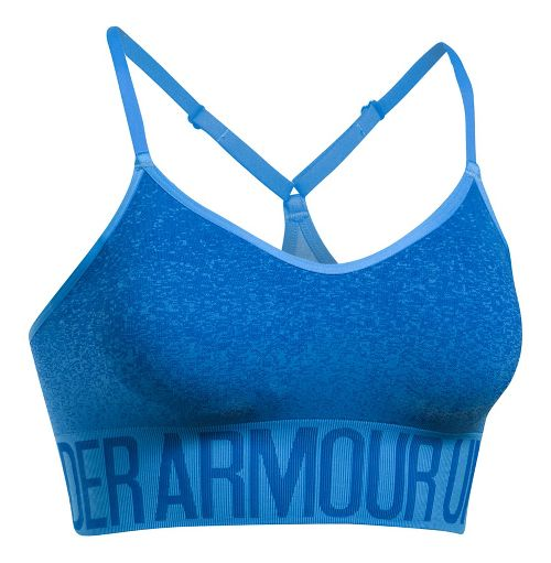 Womens Under Armour Seamless Ombre Novelty Sports Bras - Mako Blue/Lapis Blue M