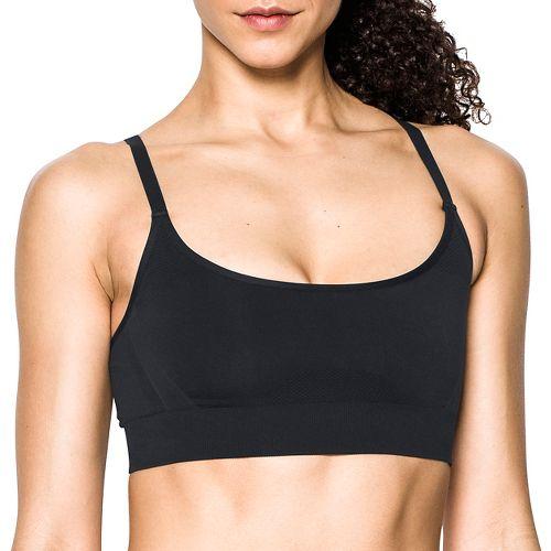 Womens Under Armour Threadborne Low Sports Bras - Black S