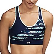 Womens Under Armour Mid Reversible Sports Bras - Bayou Blue/Navy XS
