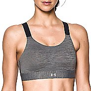 Womens Under Armour Eclipse High Heather Sports Bras - Charcoal 38-C