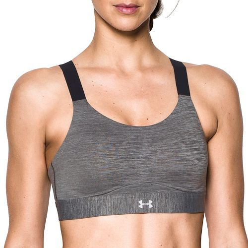 Womens Under Armour Eclipse High Heather Sports Bras - Charcoal 32-DD