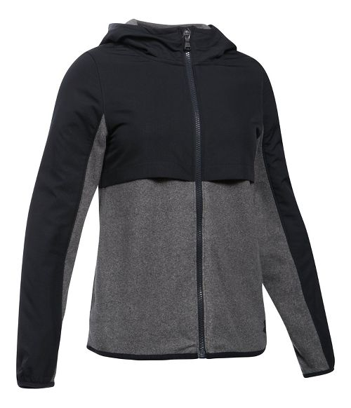 Under Armour Phenom Fleece Full Zip Half-Zips & Hoodies Technical Tops - Black YM