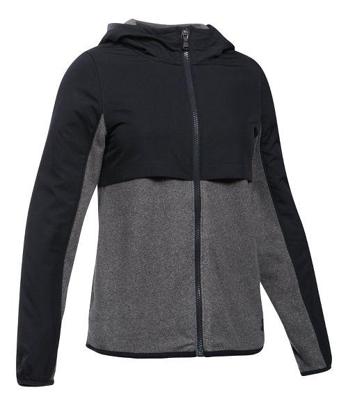 Under Armour Phenom Fleece Full Zip Half-Zips & Hoodies Technical Tops - Black YXL