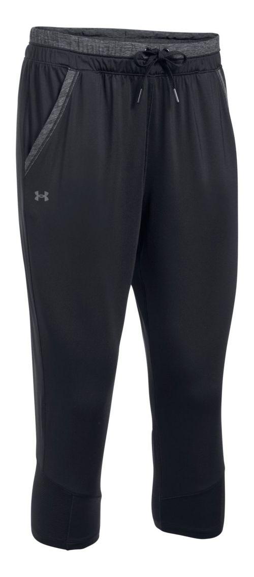 Womens Under Armour Sport Crop Pants - Black/Graphite M