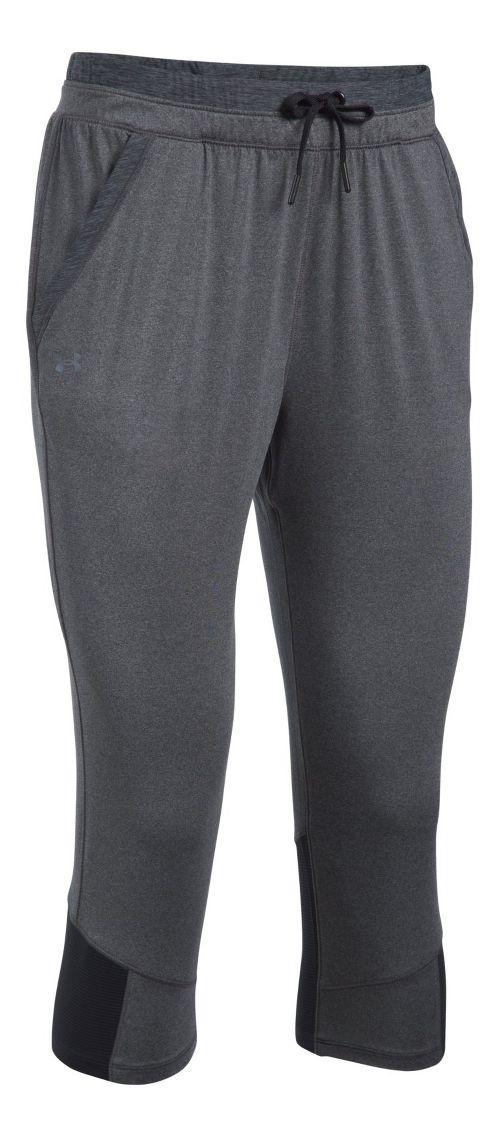 Womens Under Armour Sport Crop Pants - Carbon Heather/Black L