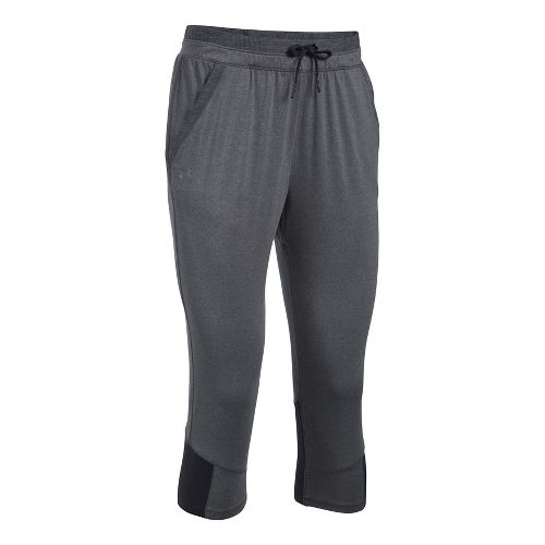 Womens Under Armour Sport Crop Pants - Carbon Heather/Black S