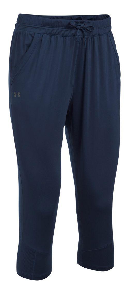 Womens Under Armour Sport Crop Pants - Midnight Navy XS