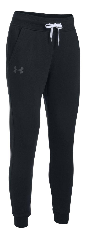 Womens Under Armour Favorite Fleece Pants - Black XS