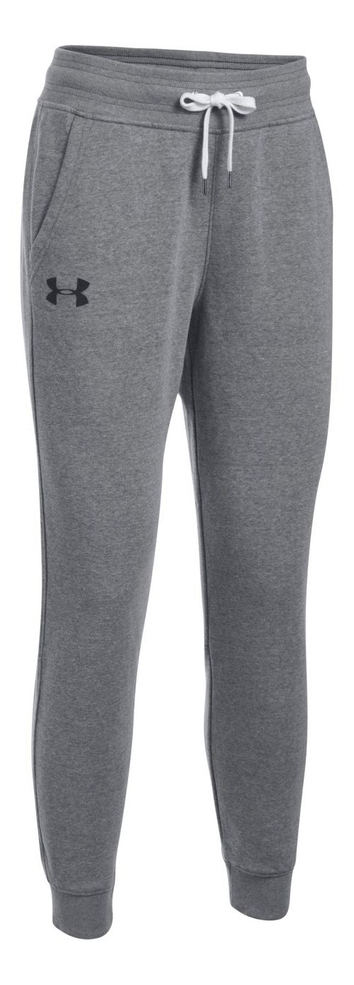 Womens Under Armour Favorite Fleece Pants - Carbon Heather XL