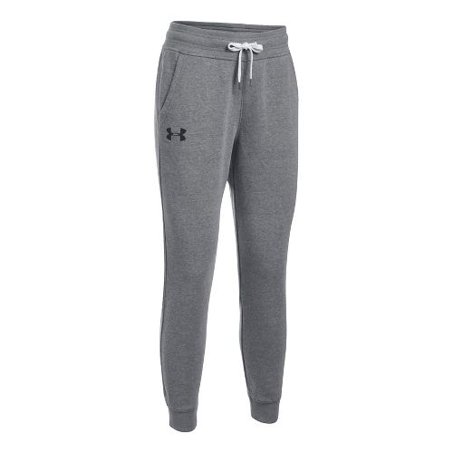 Womens Under Armour Favorite Fleece Pants - Carbon Heather XL