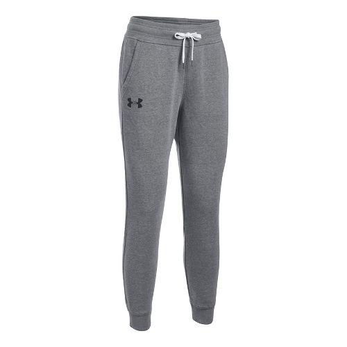 Womens Under Armour Favorite Fleece Pants - Carbon Heather XL-T