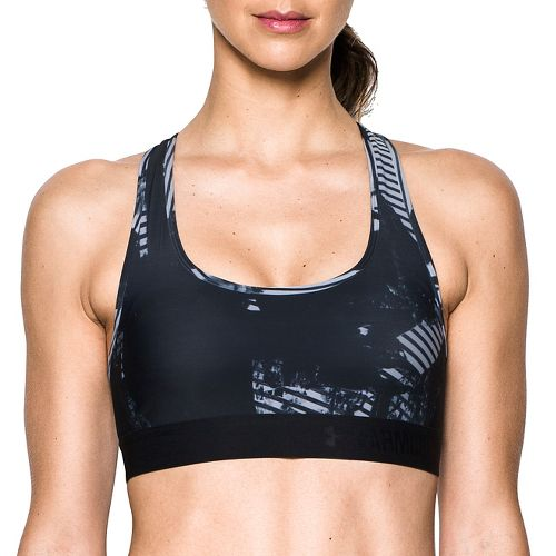 Womens Under Armour Crossback Deboss Band Sports Bras - Black S
