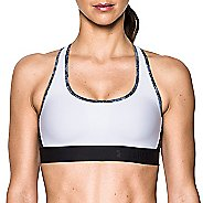 Womens Under Armour Crossback Deboss Band Sports Bras - White M