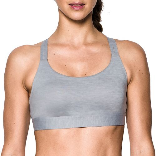 Womens Under Armour Eclipse Low Heather Sports Bras - True Grey Heather M