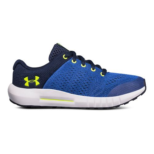 Kids Under Armour Pursuit Running Shoe - Blue/Yellow 1Y