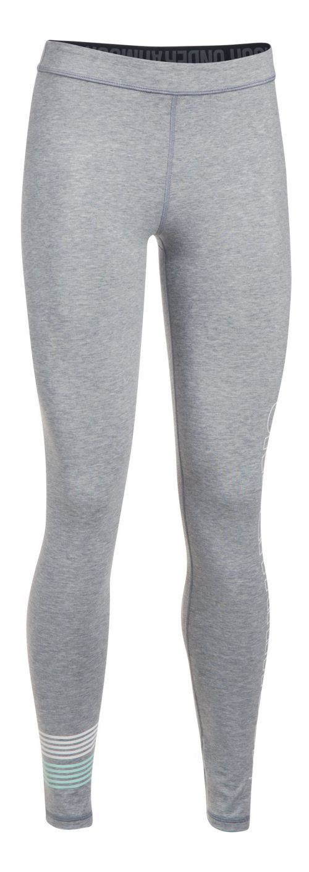 Womens Under Armour Favorite Legging Wordmark Graphic  Tights - Midnight Navy/Coral XL