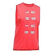 Womens Under Armour Muscle Tank GIRL BOSS Sleeveless & Tank Tops Technical Tops - Marathon Red M