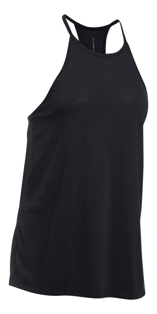 Womens Under Armour Threadborne Fashion Sleeveless & Tank Tops Technical Tops - Black L
